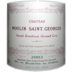 Chateau Moulin St. Georges 2003