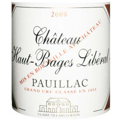 Chateau Haut Bages Liberal 2008
