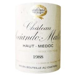 Chateau Sociando Mallet 1986 Etikett