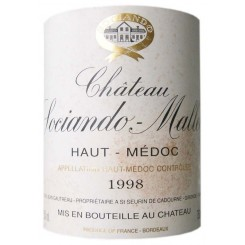 Chateau Sociando Mallet 1998 - Etikett