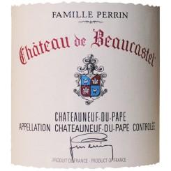 Chateau de Beaucastel Châteauneuf-du-Pape 2015 - Etikett
