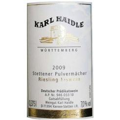 Haidle Riesling Pulvermächer Eiswein 2009 (0,375l)