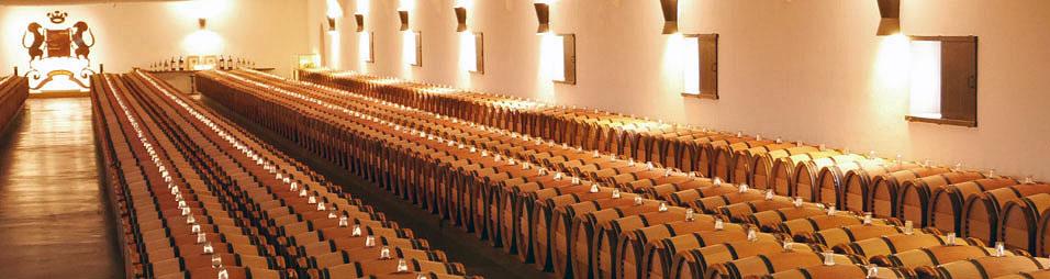 Weinfass- Keller von Chateau Mouton-Rothschild