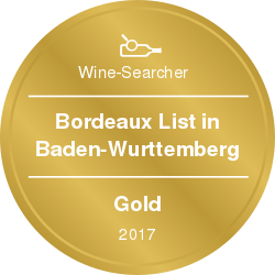 Wine-Searcher Award Bordeaux 2017 Gold