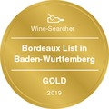 Wine-Searcher Award Bordeaux 2019 Gold