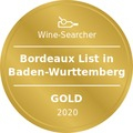 Award Winesearcher-Bordeaux List in Baden-Wurttemberg-Gold-2020