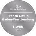 Award Winesearcher-French List in Baden-Wurttemberg-Silver-2020