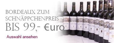 Bordeaux zum Schnäppchenpreis bis 99,- Euro